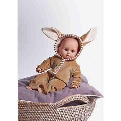 Babypuppe im Hasenoutfit, 32 cm