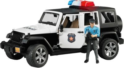 BRUDER 2526 Jeep Wrangler Unlimited Rubicon mit Polizei 1:16