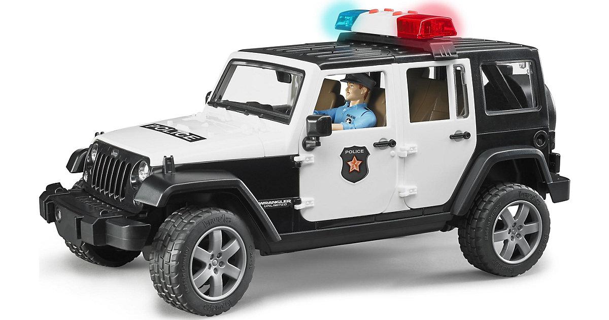 BRUDER 2526 Jeep Wrangler Unlimited Rubicon mit Polizist 1:16