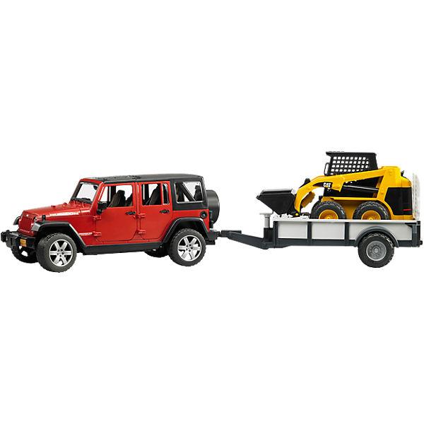 BRUDER 2925 Jeep Wrangler Unlimited Rubicon mit CAT 1:16, Bruder