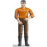 """Игровая фигурка Bruder """"Рабочий-мужчина"""", в коричневых штанах, 11 см"""