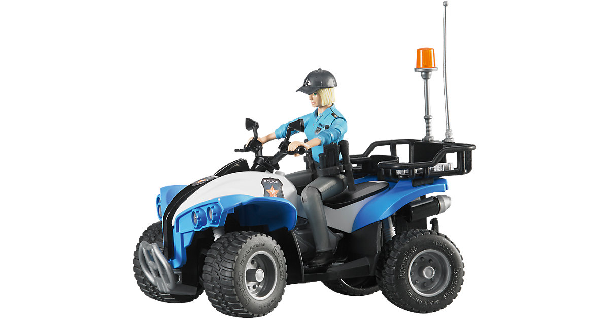BRUDER 63010 bworld Polizei Quad mit Figur und Ausstattung