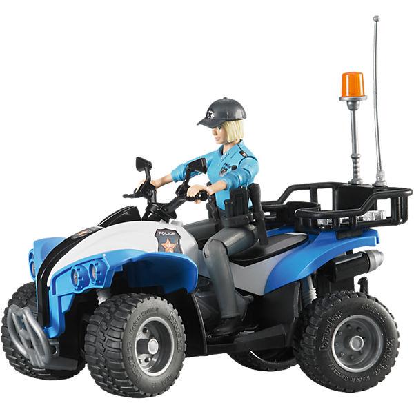 BRUDER 63010 bworld Polizei Quad mit Figur und Ausstattung, Bruder