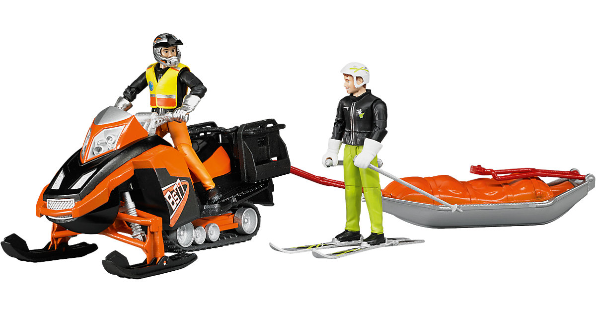 BRUDER 63100 bworld Snowmobil mit Rettungsschlitten