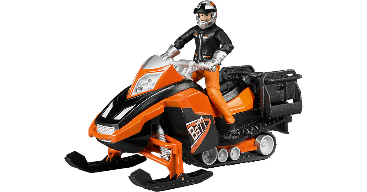 BRUDER 63101 bworld Snowmobil mit Fahrer und Ausstattung