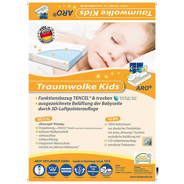 Kinder Matratze Traumwolke Kids 70 x 140 cm Artländer