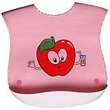 Нагрудник с кармашком прорезиненный Sevi baby, розовый