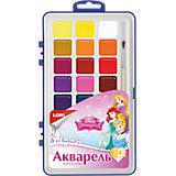 """Краски акварельные с кистью """"Принцессы Disney"""", 24 цв."""