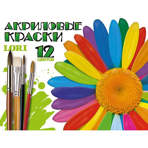 Краски акриловые, 12 цветов, LORI