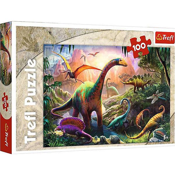 Puzzle 100 Teile - Welt der Dinosaurier, Trefl