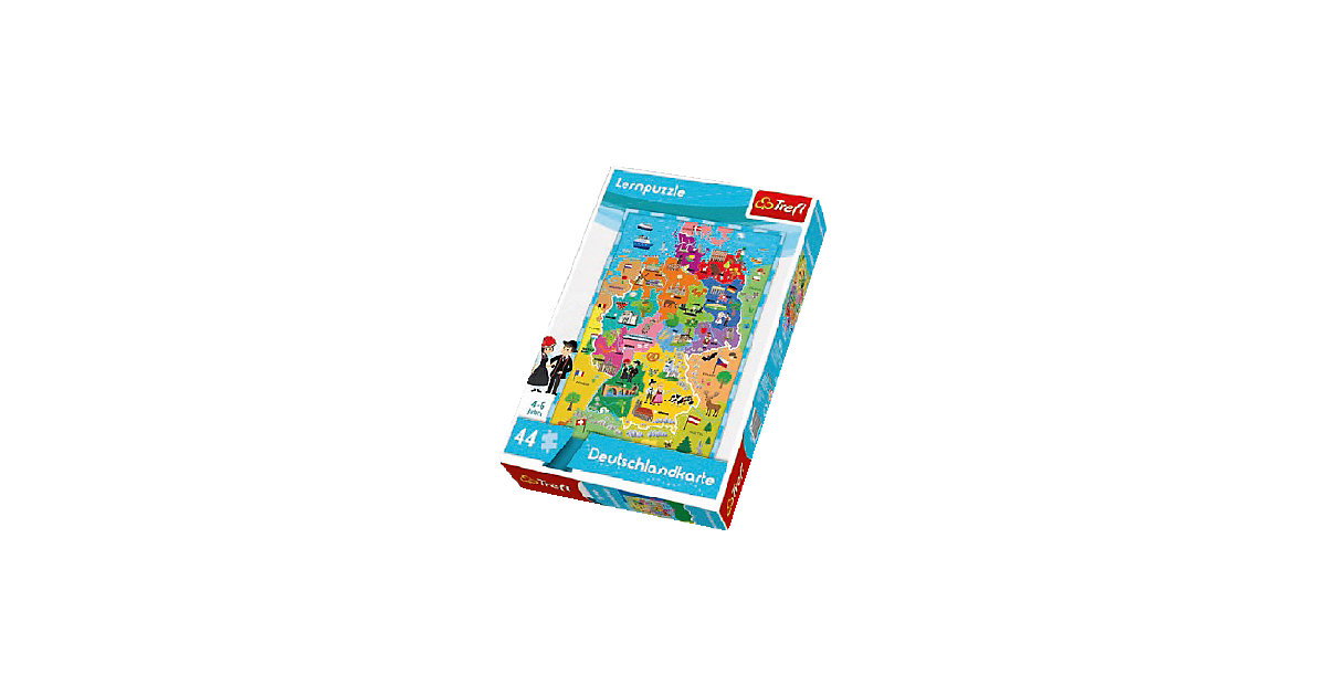 Lernpuzzle 44 Teile - Deutschlandkarte