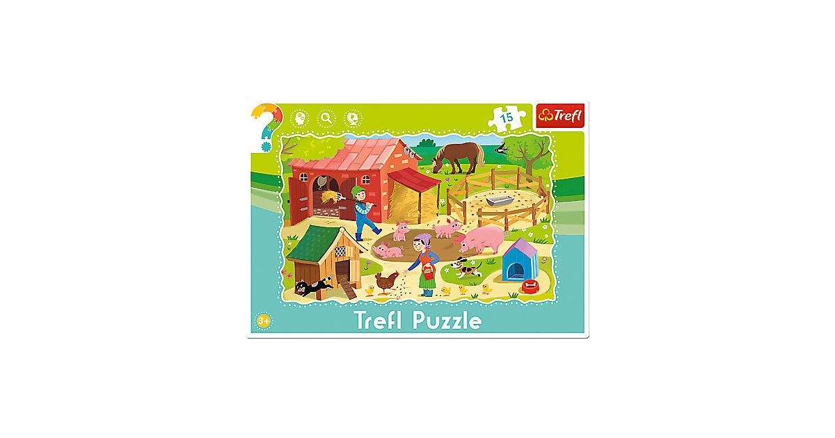 Rahmenpuzzle 15 Teile - Bauernhof