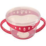 Тарелка с крышкой Comfy Plate, Happy Baby, красный