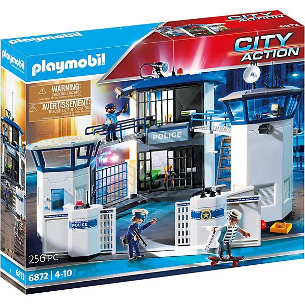 Playmobil 6872 Polizei Kommandozentrale Mit Gefängnis Playmobil City Action Mytoys