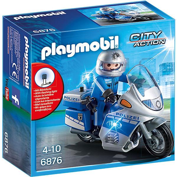PLAYMOBIL® 6876 Motorradstreife mit LED-Blinklicht, PLAYMOBIL City Action