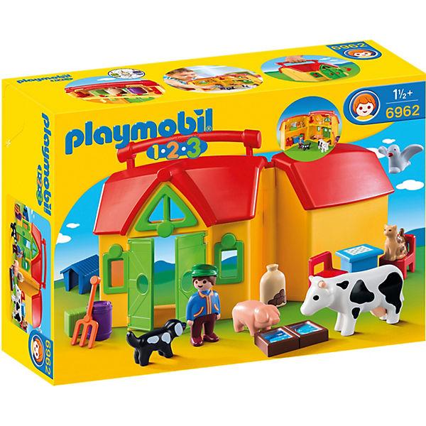 Playmobil 6962 1 2 3 Mein Mitnehm Bauernhof Playmobil 1 2 3 Mytoys