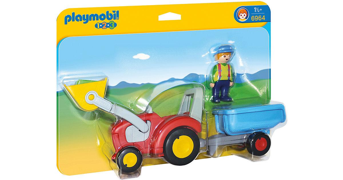 PLAYMOBIL® 6964 1-2-3: Traktor mit Anhänger