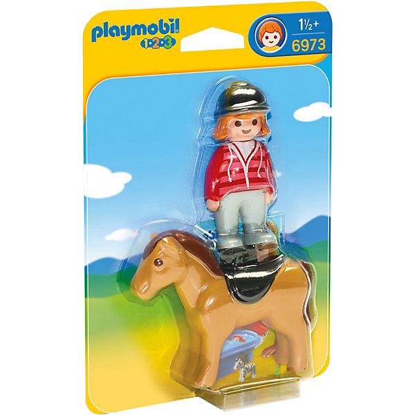 PLAYMOBIL® 6973 1-2-3: Reiterin mit Pferd, PLAYMOBIL 1 2 3