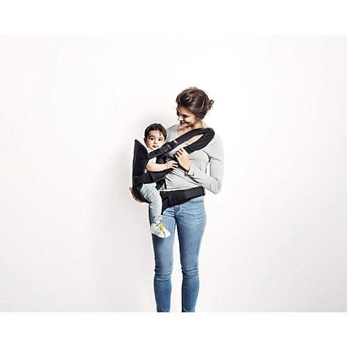 Рюкзак One Soft Cotton Mix, BabyBjorn, деним серый от BabyBjorn