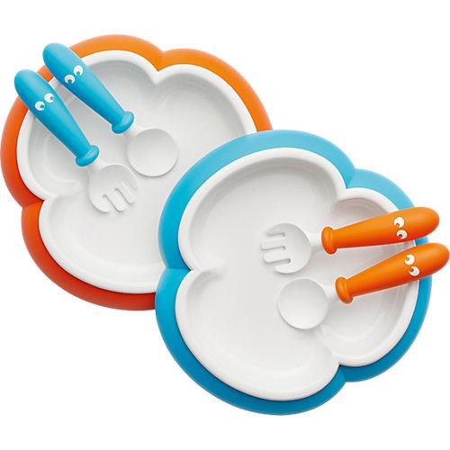 Набор посуды BabyBjorn - синий/оранжевый от BabyBjorn