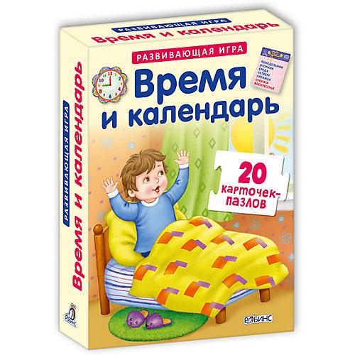 """Карточки-пазлы """"Время и календарь"""" от Робинс"""
