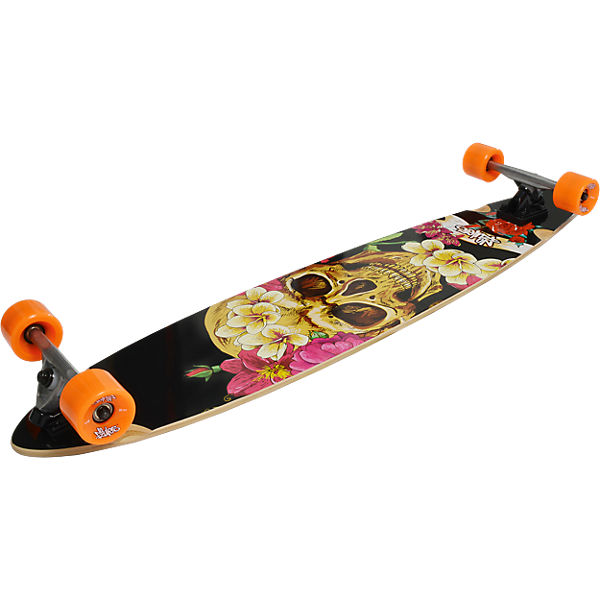 Longboard ABEC 7, Skull & Flower, No Rules   myToys
