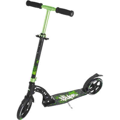 Authentic Sports & Toys 137 Aluminium Scooter No Rules 205 mm schwarz/grün