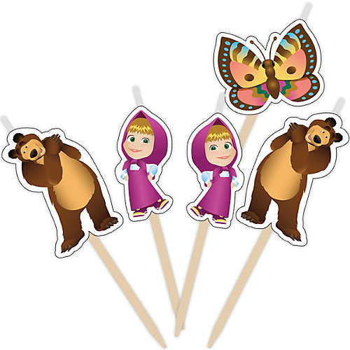 "Набор свечей на палочках ""Маша и Медведь"" 5 шт от Росмэн"