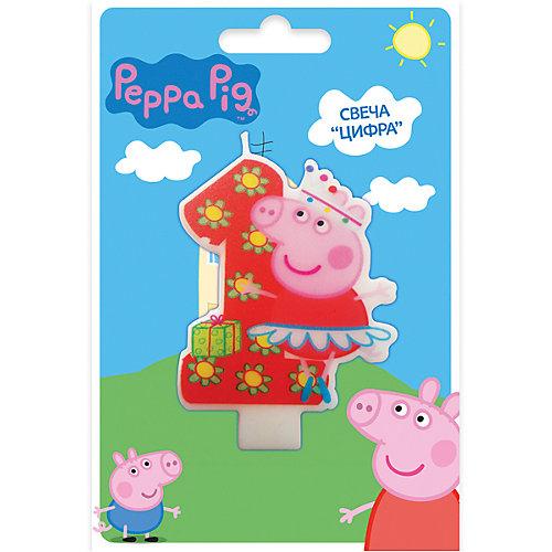 Свеча-цифра №1, Свинка Пеппа от Росмэн