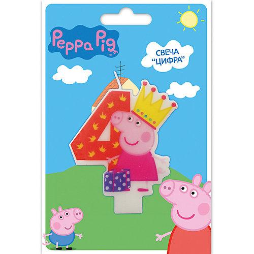 Свеча-цифра №4, Свинка Пеппа от Росмэн