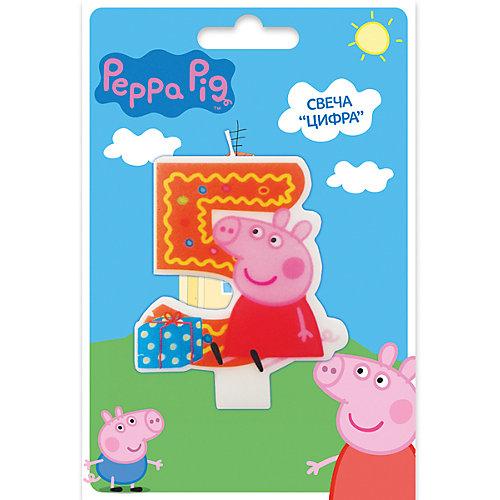 Свеча-цифра №5, Свинка Пеппа от Росмэн