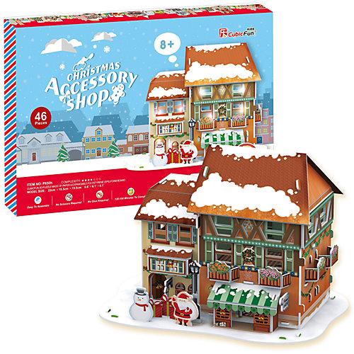 Рождественский домик 4, с подсветкой, CubicFun от CubicFun