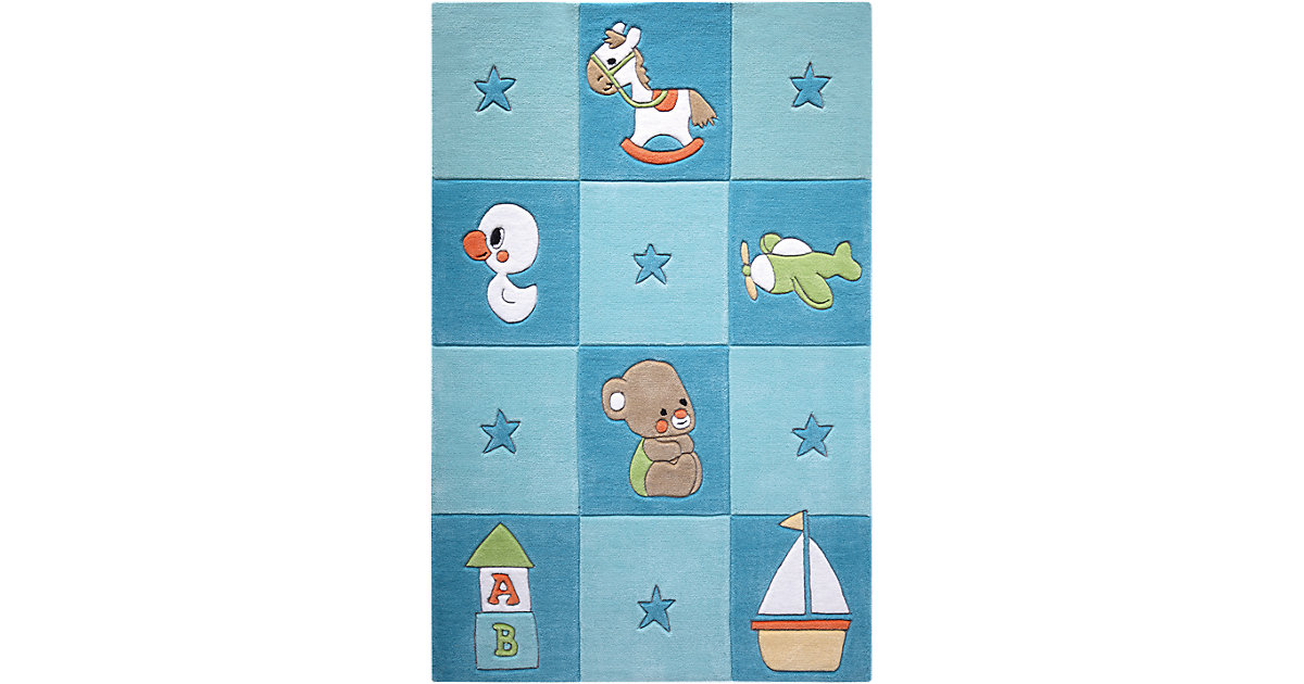 Smart Kids · Teppich Newborn, blau Gr. 130 x 190