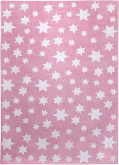 Kinderteppich sterne rosa  Teppich, STAR rosa/silbergrau, 160 x 230 cm, Happy Rugs | myToys