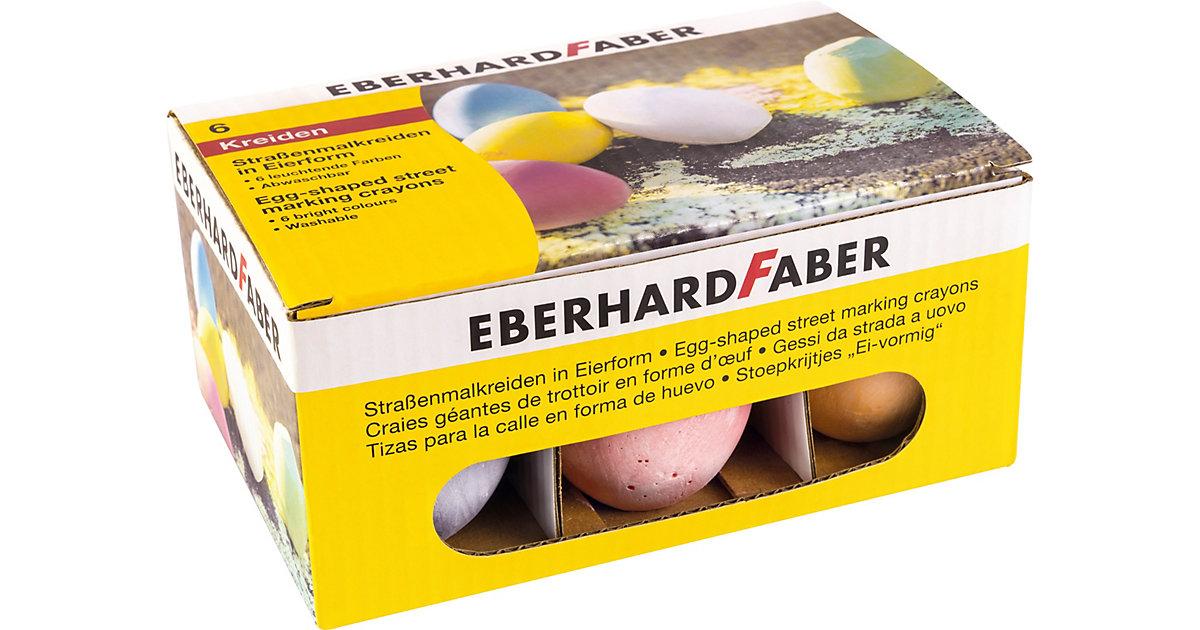 Straßenmalkreide in Eierform, 6 Farben