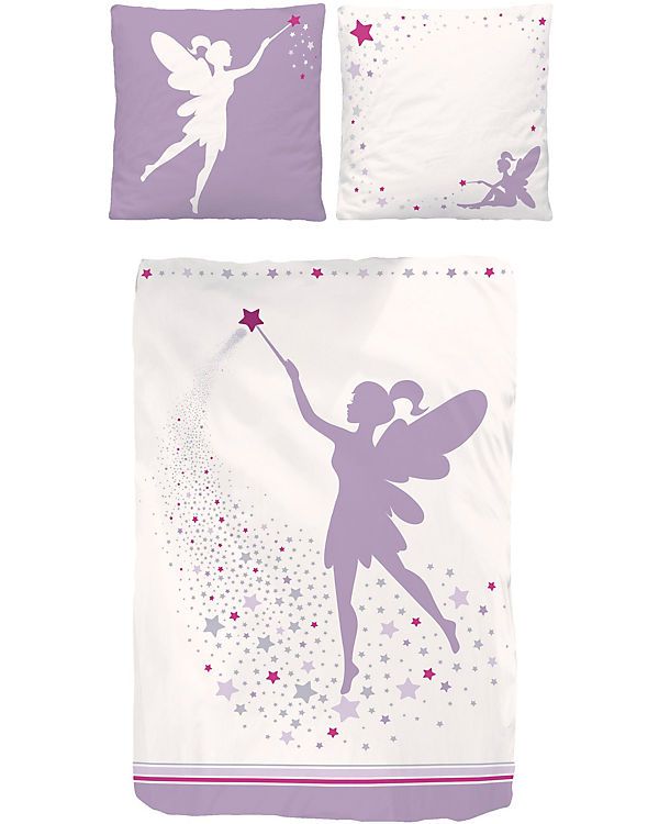 kinderbettw sche fee renforc violett 135 x 200 cm mytoys. Black Bedroom Furniture Sets. Home Design Ideas
