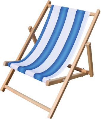 Kinderliegestuhl blau/weiß gestreift