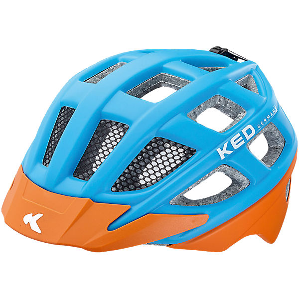 Fahrradhelm Kailu Lightblue Orange Matt