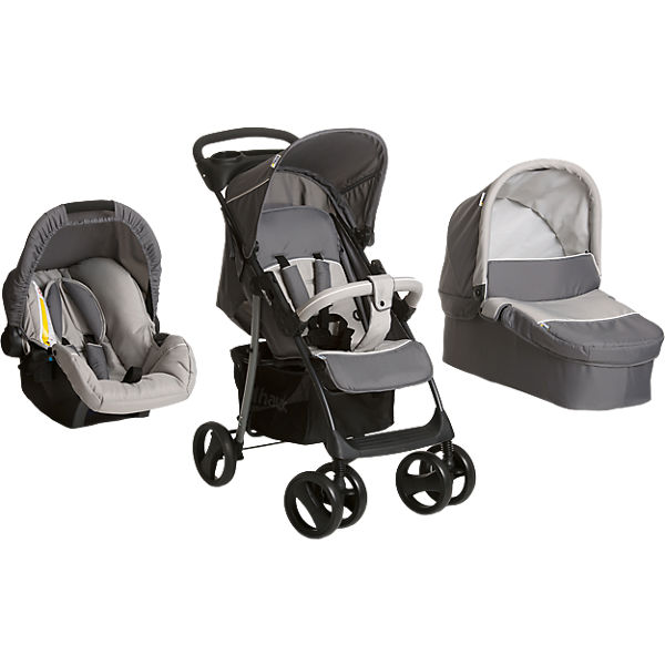Kombi Kinderwagen Shopper SLX Trio Set, stone/grey, 2018