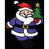 """Наклейка на окно """"Весёлый Дед Мороз"""" 13*16 см"""