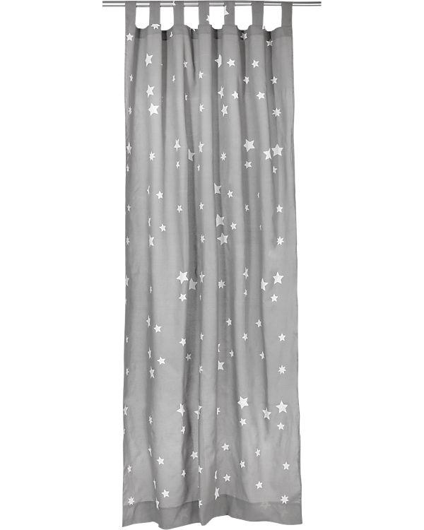Vorhang Sterne inkl. Bügelband, grau-weiß, 140 x 245 cm (2 Stück ...