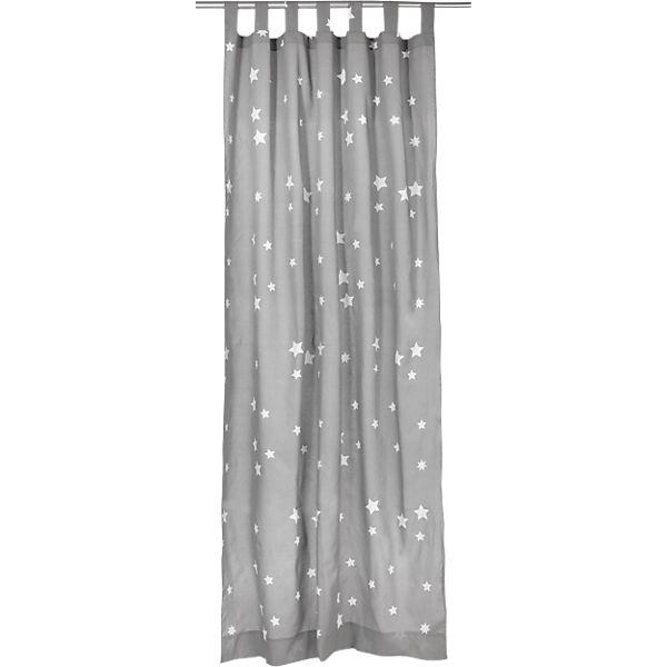 Vorhang Sterne Inkl Bugelband Grau Weiss 140 X 245 Cm 2 Stuck