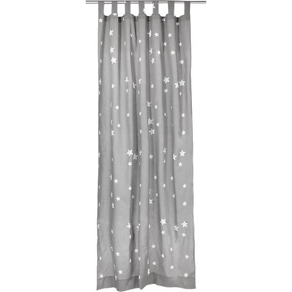 Vorhang Sterne inkl. Bügelband, grau-weiß, 140 x 245 cm (2 Stück),  myToys