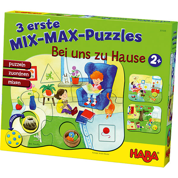 3 erste Mix-Max-Puzzles - Bei uns Zuhause, Haba