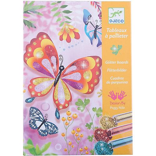 """Раскраска """"Блестящие бабочки"""" от DJECO"""