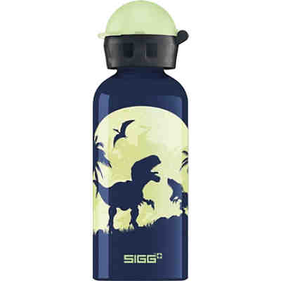 Alu-Trinkflasche GLOW IN THE DARK Moon Dinos, 400 ml