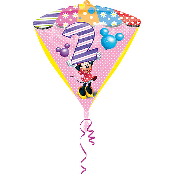 Folienballon Minnie Maus Zahl 2