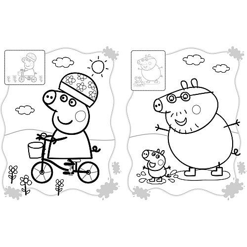 "Раскраска ""Свинка Пеппа"" с наклейками (розовая) от Росмэн ..."