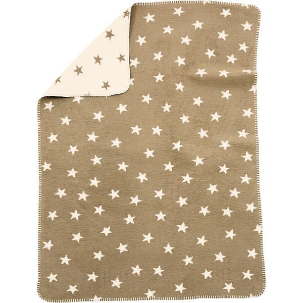 babydecke mit uv schutz baumwolle sterne beige 75 x 100 cm alvi mytoys. Black Bedroom Furniture Sets. Home Design Ideas