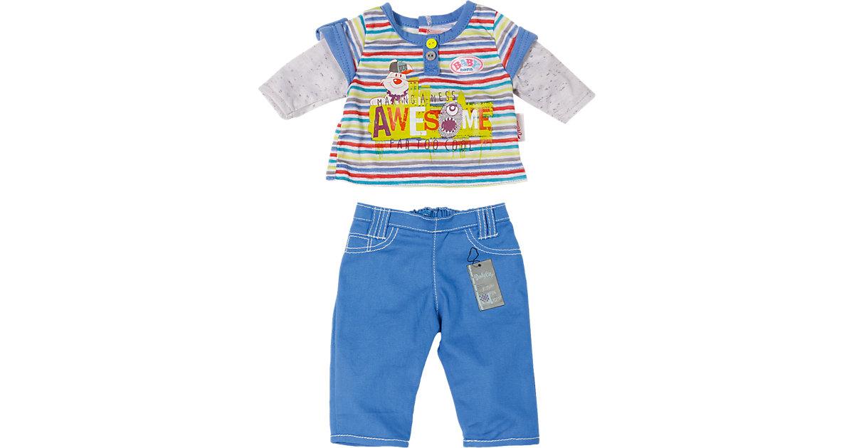 BABY born® Puppenkleidung Longsleeve, blaue Hose, 43 cm